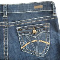 KUT From The Kloth Natalie Dark High Rise Boot Cut Flap Pocket Jeans Womens 8