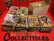 1 Box Lot 50 OLD COMICS Marvel DC Spiderman Batman X-Men Justice League Thor CGC