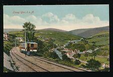 IOM Isle of Man LAXEY GLEN Train Railway c1900s? PPC