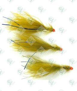 3 HOT HEAD Olive BLUE FLASH Damsel Flies UV ORANGE Trout FLY Fishing # 10,12,14