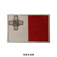 MALTA National Flag Embroidered Patch Iron on Sew On Badge For Clothes etc