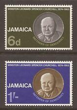 JAMAICA 1966 SG252/253 Churchill Commemoration Set MNH (JB13951)