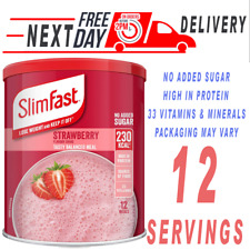SlimFast Meal Shake New Recipe 12 Servings - 438 Grams - 6 Flavours - New