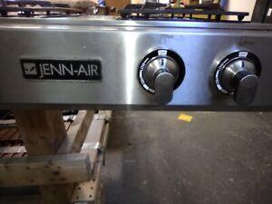 JGD8348CDP 48' Pro-Style Modular Gas Downdraft Cooktop Jenn Air stainless LP