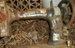 "Antique Labeled ""White"" Treadle Sewing Machine Head (Top)"