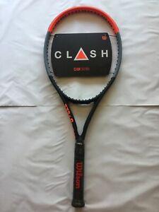 BRAND NEW Wilson Clash 100 Pro Tennis Racquet Grip Size 4 3/8
