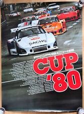 """orginal Plakat Renn Poster """"Porsche Cup"""" 1980  Jägermeister Porsche 935"""