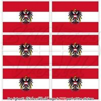 """AUSTRIA Austrian State Flag 1.6""""(40mm) Mobile Cell Phone Mini Stickers-Decals x6"""