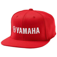 Yamaha Red Flatbill Hat with Flexfit Snap Back MX ATV PWC Golf Powersports