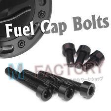 Black For Triumph Fuel Cap Bolts Screws TT600 Daytona 650 955i Speed Triple 1050