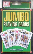 Pack of Plastic Coated Jumbo Playing Cards (54 Cards including Jokers)