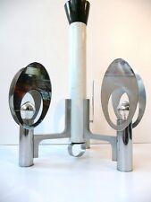 LAMPE PLAFONNIER CHROME ACIER ANNEES 70 VINTAGE DESIGN 1970 SPACE AGE FUNKY 70s