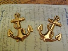 Large Raw Brass Anchor Stampings (2) - Sg6206