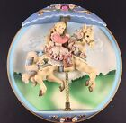 """Carousel Daydreams-Swept Away"" Musical Plate Bradford Exchange 1994"