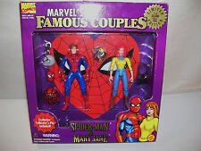 NEW MARVEL FAMOUS COUPLES SPIDER-MAN & MARY JANE ACTION FIGURES TOY BIZ 1996