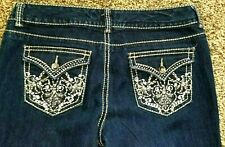 Nine West Annette New Sexy Rhinestone Bling Patch Pocket Jeans ~ 12 ~ 34 /31