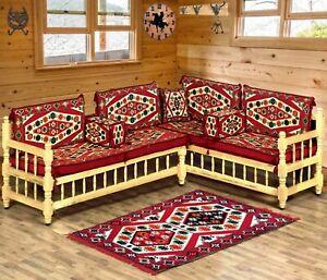 Arabic majlis sofa with wooden bench,corner sofa set,patio sofa set / SHI_FSWB01