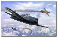 The Ace Maker by Mark Karvon - Grumman F6F Hellcat - Aviation Art Print - Large