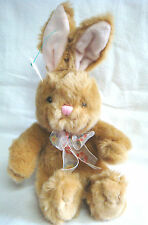 "Plush Tan Bunny Rabbit by Russ for Avon - ""Valerie"" - Tush Tags & Ribbon"