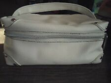Bare Escentuals Overnight/ Make Up Carry Case Travel Bag White Fuax Leather