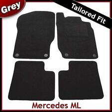 Tailored Fitted Carpet Car Mats for Mercedes ML W164 Mk2 2005-2011 GREY