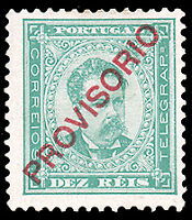 Portugal #82 MHR CV$16.00 (Perf 13 1/2 Chalky Paper) King Luiz