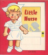 Vntg 1940s Little Nurse Paper Doll Lasr Reproductn~Org Sze UncuT Free S&H Topslr
