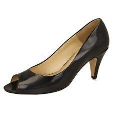 Peep Toes No Pattern Slim 100% Leather Upper Heels for Women