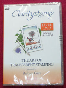 CLARITYSTAMP Art of Transparent Stamping Part 5 BARBARA GRAY Double DVD
