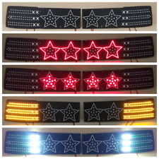 "Toyota Supra MK3 ""STARS"" LED Lanterns Conversion Kit  (restyle 89+)"