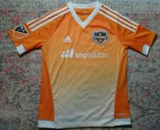 MLS Adidas Houston Dynamo 2015-2016 Orange Home Jersey~Youth M (11-12 yrs)~GUC