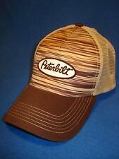 Peterbilt Motors Trucks Wood Grain Mesh Trucker Cap / Hat...FREE SHIPPING TO USA