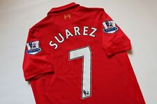 LIVERPOOL 2012/2013 HOME FOOTBALL SHIRT JERSEY CAMISETA 7 SUAREZ WARRIOR BOYS XL