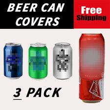 3 PACK OF HIDE A BEER CAN CAMO WRAP SLEEVES DISGUISE GOLF COVERS SODA 6