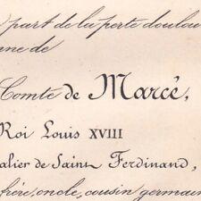 Louis Gaston De Marcé 1877 Page Louis XVIII Hussards