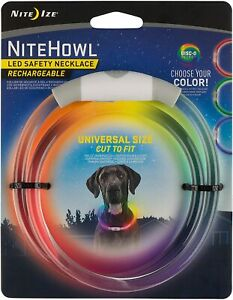 NiteHowl LED Safety Necklace by Nite Ize ▪Rechargeable ▪ Disc-O ▪Universal Size