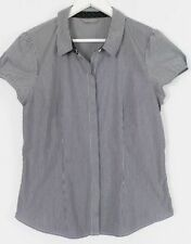 Jacqui E Career Button Down Shirt Machine Washable Tops & Blouses for Women