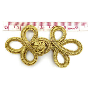 Small Trefoil Chinese Knot Buttons Frog Fasteners Closures Cheongsam Sewing Diy