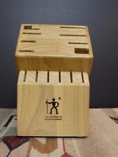 New listing J.A. Henckles Maple Wooden Counter-Top Knife Block Excellent!