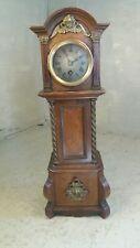 Antique Mahogany Miniature Grandfather Clock