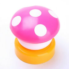 LED Color Mini Mushroom Head Press Down Touch Night Bed Desk Lamp Light Gift