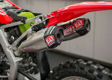 Yoshimura RS 9T Dual Slip On Exhaust Stainless w/ Carbon Cap Honda CRF450R 2017