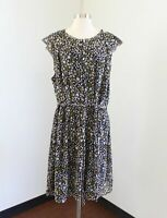NWT Ann Taylor Loft Plus Black Yellow Floral Tie Belt Cap Sleeve Dress Size 26W