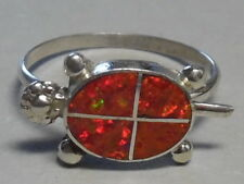 Opal Turtle Ring-Romelia Pincion-Size 7 1/4 Zuni R- 321 Sterling Silver& Created