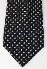 Black and white check tie pure silk kipper Impressioni by Countess Mara wide