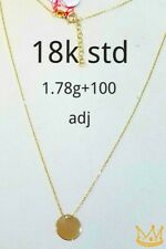 """Gold Authentic 18k gold necklace 16""""chain with extension,"""