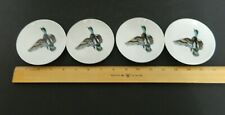 Duck Porcelain Butter Pats Collectible Miniature Plates Hanging Holes in Each 4