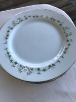 "4 Sheffield Elegance 502 H Fine China Japan 6 1/2"" Saucer Dessert Plates"