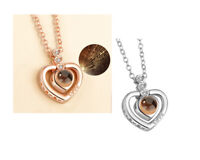Heart Love Friendship Pendant Projection Necklace I love you in 100 Languages