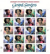 Gospel Singers Legends 32 cent Sheet Pane 20 3216-3219 Mint NH 1998 Free Ship